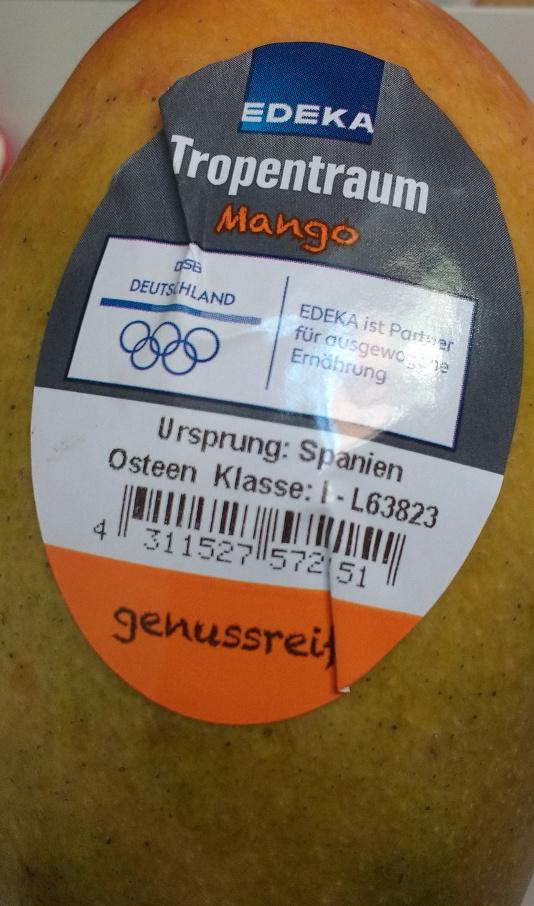 """Eine """"Tropenmango"""" aus Spanien, hier stimmt der Kontext nicht.."""