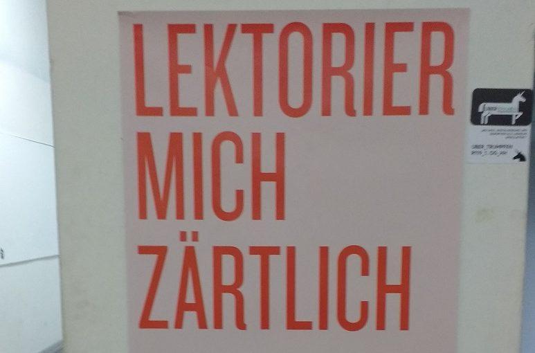 Lektorat Lektor Christian Wöllecke UDK-Veranstaltungsbild Lektorier mich zärtlich